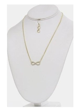 Crystal Infinity Symbol Necklace & Earring Set