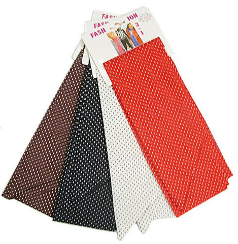 Polka Dot Design Skinny Scarf / Belt