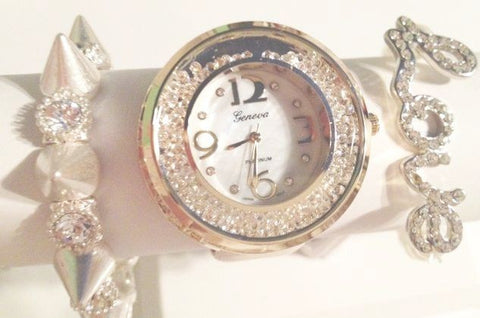 Angel Dreams Moving Crystal Watch Stacking Set