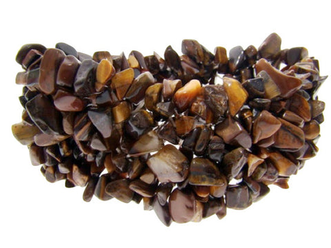 Genuine Semi-Precious Stone Bracelet : Tiger's Eye