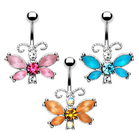 Crystal Butterfly Belly Jewelry