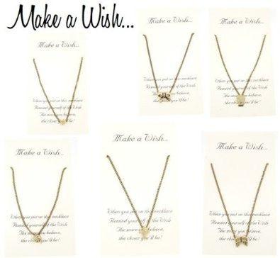 Make a Wish Necklace in Antique Style, Gift-Boxed