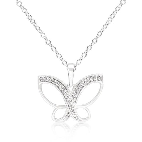 White Gold Butterfly Necklace