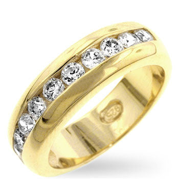 Gold Channel Eternity Band