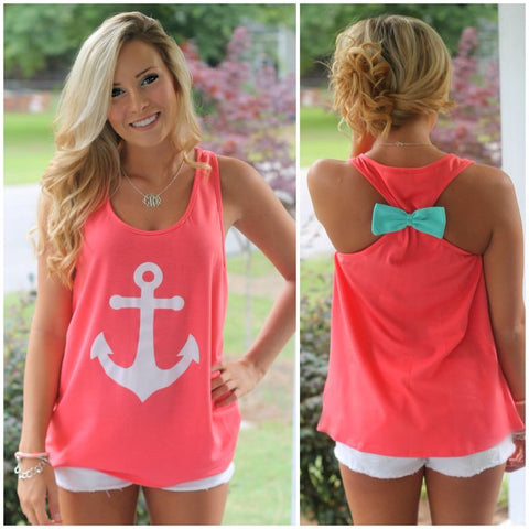 Pink Anchor w/ Bow Tank