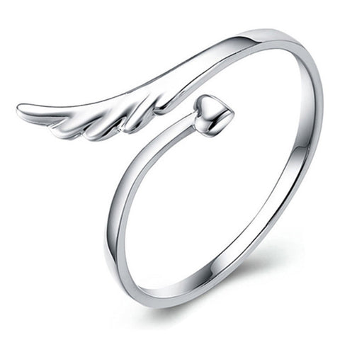 Angel Wing and Heart Ring