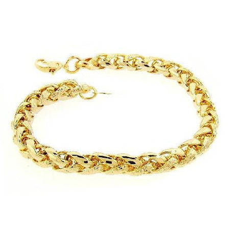 "18"" Braided Chain Necklace in 14k Gold Overlay"