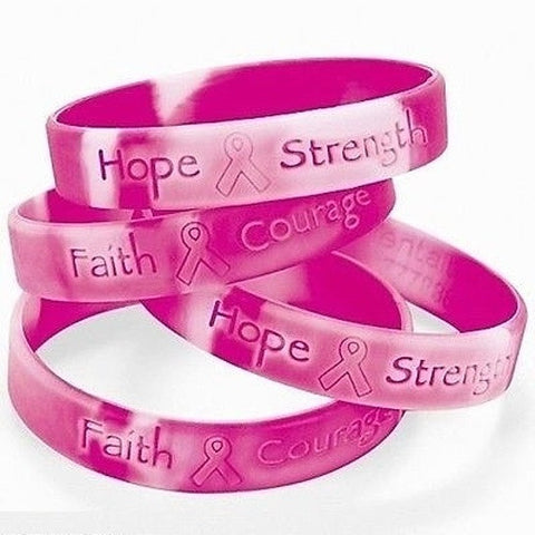 Pink Ribbon of Hope Breast Cancer Awareness Bracelets (Set of TWO)