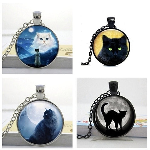 Cat Cabechon Necklaces