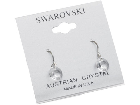 .925 Sterling Silver & Swarovski Crystal dangle Earrings: Clear Ice