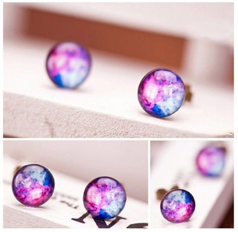 Cosmic Galaxy Stud Earrings