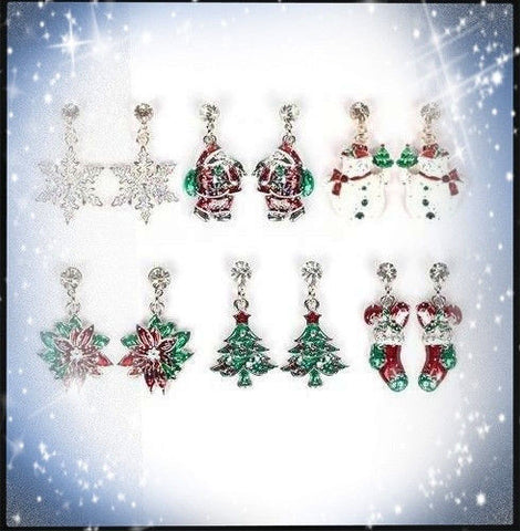 Austrian Crystal Sparkling Holiday Earrings