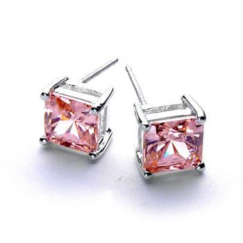 .925 Princess Ice Earring