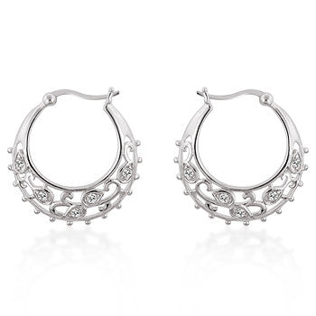 .925 Filigree Hoop Earrings