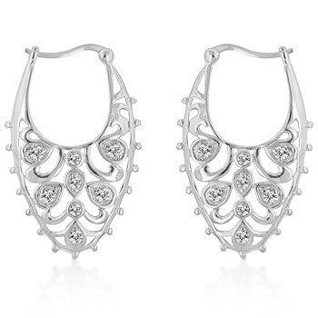 Antique Lace Hoop Earrings
