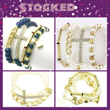 Pearl & Gold Stacking Bracelets