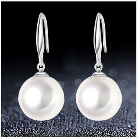 .925 Silver Swarovski Pearl Earrings