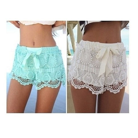 Lace & Ribbon Shorts