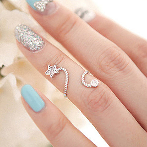 Embellished Crystal Ring