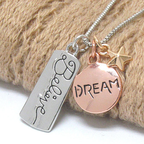 Believe in Your Dreams Charm Necklace
