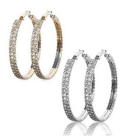 Crystal Hoop Earrings in Swarovski Elements
