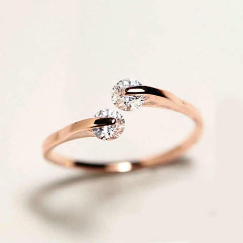 Swarovski Crystal 18k Gold Ring