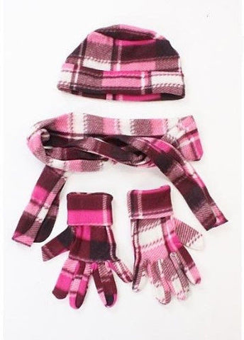 Ivy League Plaid Scarf, Hat & Mitten Set