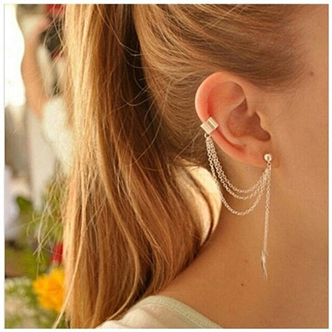 Golden Leaf Ear Cuff