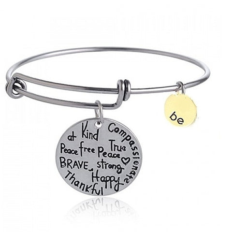 Be Thankful Charm Bracelet
