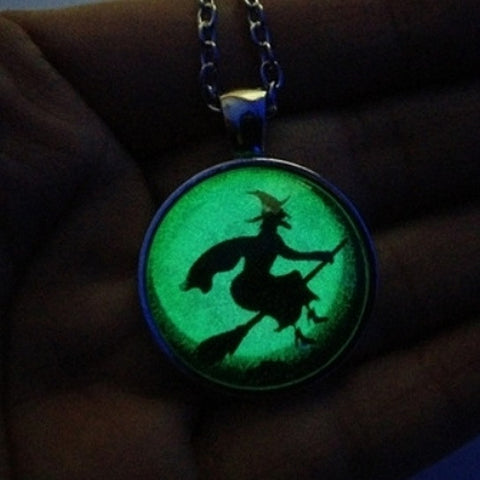 Halloween Glow Necklace with UV Light