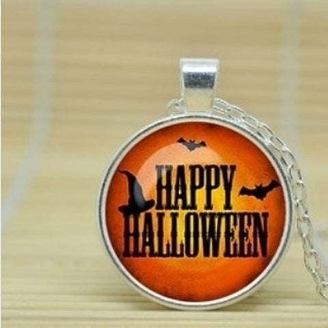Halloween Cabochon Necklace