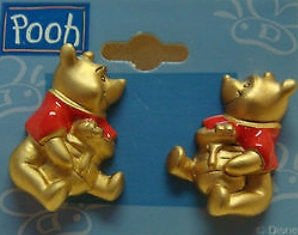 Winnie The Pooh Honey Pot Clip-On Earrings