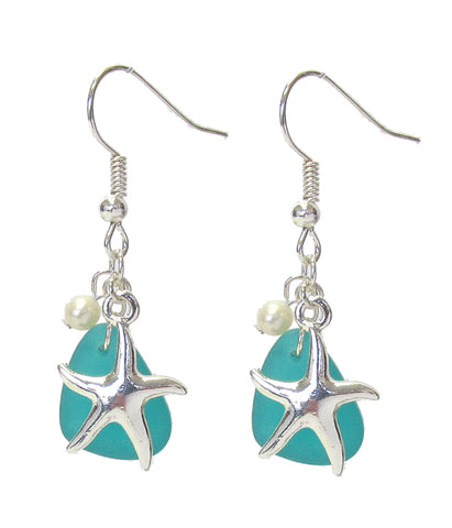 Starfish and Pearl Earrings