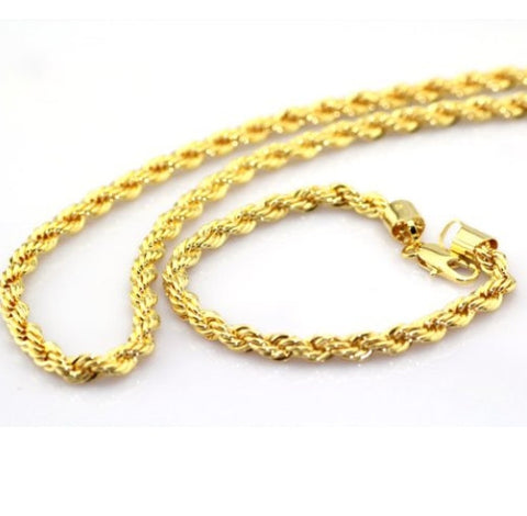 14K GP Gold Imperial Serpentine Chain Necklace
