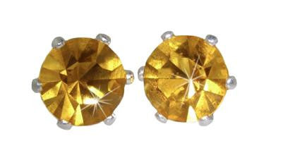 Swarovski Crystal Stud Earrings : Jonquil in Sterling