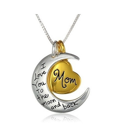"Mom ""I Love You To The Moon"" Charm Necklace"