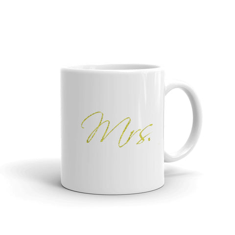 Mrs Gold Insignia Mug