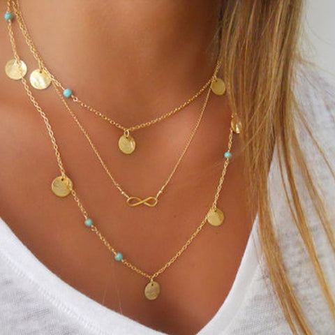 Multi-Layer Infinity Necklace