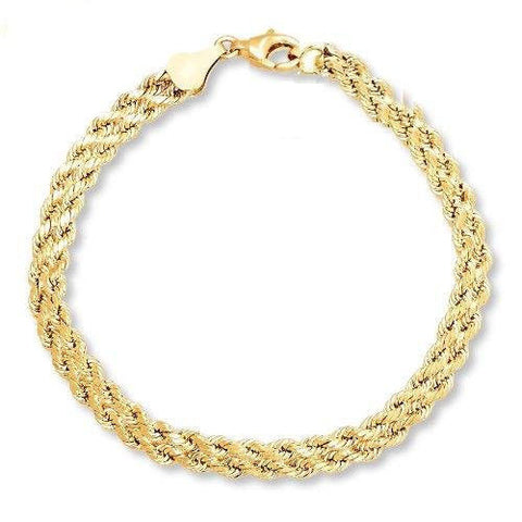 14k Gold Rope Necklace - 16 inches