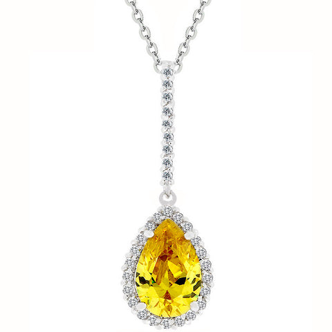 Yellow Tear Drop Pendant