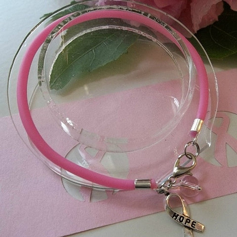 Hope Charm - Breast Cancer Awareness Bracelets