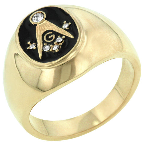 Masonic Ring in Onyx