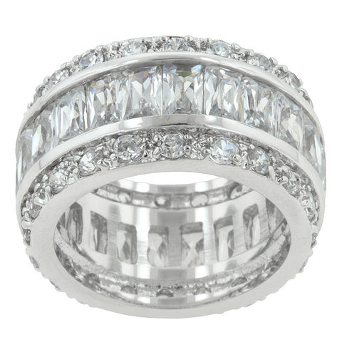 Triple Row White Eternity Ring