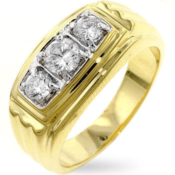 Gold Triplet Ring