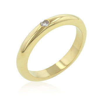 Solitaire Golden Wedding Band