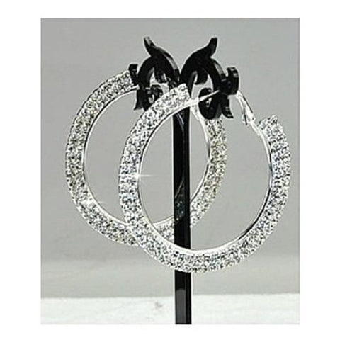 Dounle Crystal Hoop Earrings in Swarovski Elements