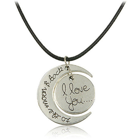 To The Moon Silver Necklace