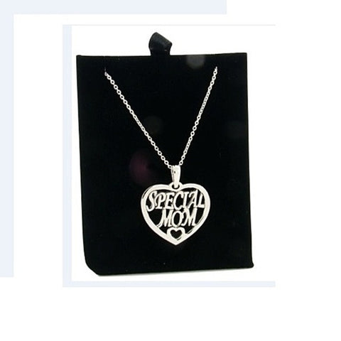 Special Mom Silver Necklace with Poem & Presentation Box