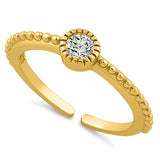 Yellow Gold Over .925 Sterling Silver CZ Toe Ring