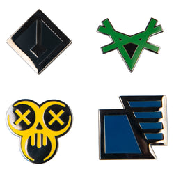View 1 of The Division 2 Factions Enamel Pin Set photo.